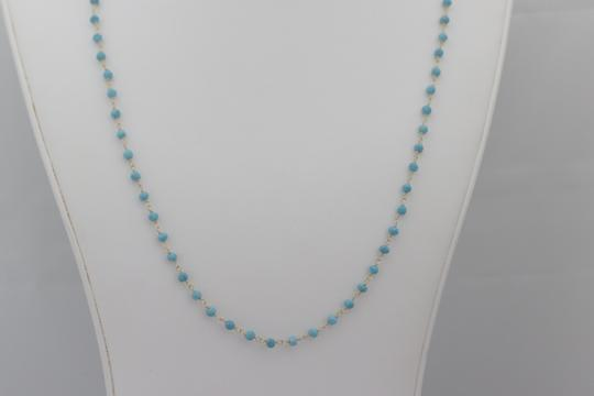 Other Gold Plated Sterling Silver Turquoise Necklace - Gold Turquoise Neckla
