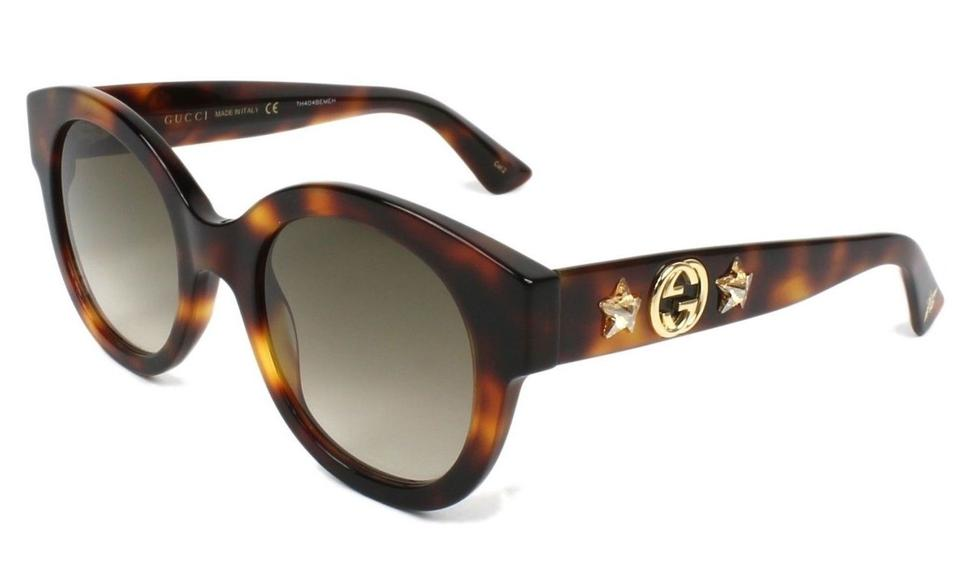 8eb07c3ac2 Gucci Gucci Sunglasses GG0207S 002 Havana Brown Gold   Brown Gradient Lens  Image 0 ...