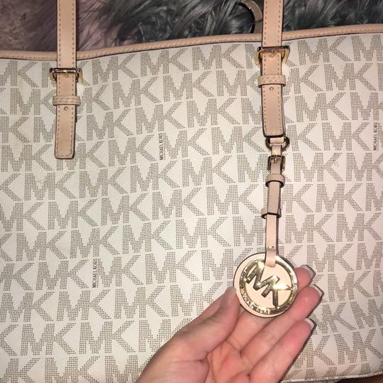 Michael Kors Tote in cream and pink