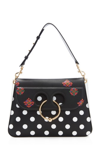 Preload https://img-static.tradesy.com/item/23660754/jwanderson-polka-dot-medium-pierce-black-and-white-leather-shoulder-bag-0-0-540-540.jpg