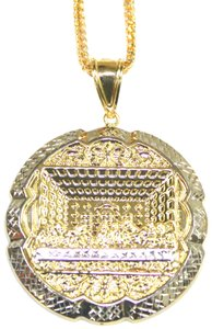 Preload https://item3.tradesy.com/images/yellow-gold-14-kt-diamond-cut-franco-chain-with-last-supper-pendant-necklace-23660777-0-1.jpg?width=440&height=440