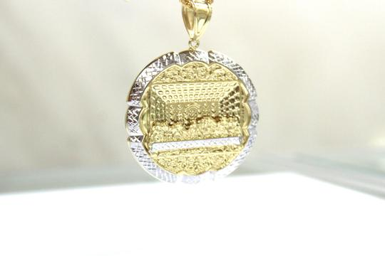 Other 14 KT. Yellow Gold Diamond Cut Franco Chain With Last Supper Pendant