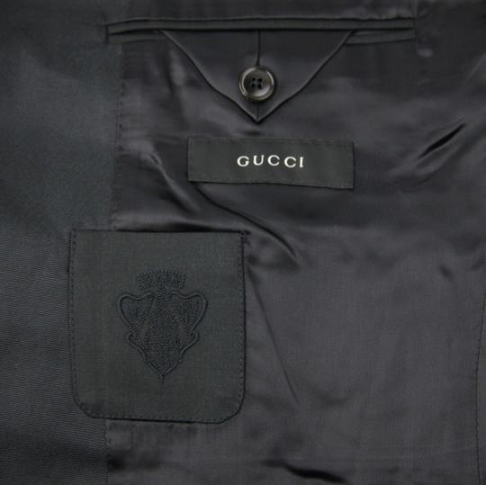 Gucci Dark Navy Wool Marseille Button 1 Vent 54r/Us 44r 270554 Z2000 4140 Tuxedo