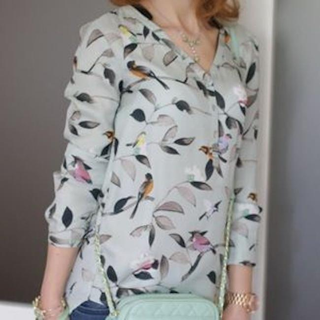Zara Casual Wear To Work Top Mint