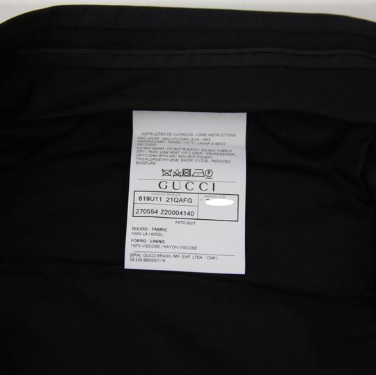 Gucci Dark Navy Wool Marseille Button 1 Vent 58r/Us 48r 270554 Z2000 4140 Tuxedo