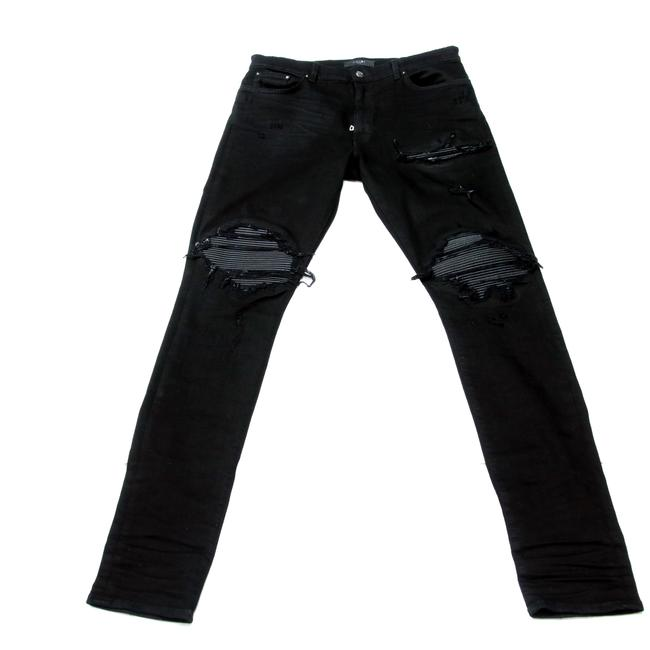 Preload https://item2.tradesy.com/images/black-distressed-mx1-classic-leather-panelled-stretch-men-s-skinny-jeans-size-36-14-l-23660796-0-1.jpg?width=400&height=650