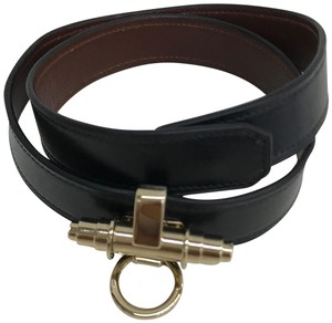 Givenchy Givenchy Black Obsedia Leather Wrap Bracelet.