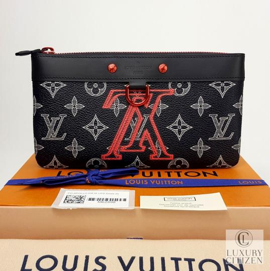 Louis Vuitton Upside Down Pochette Apollo Blue Clutch