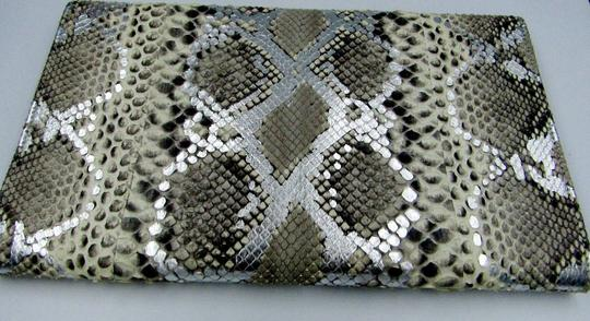 Jimmy Choo Python Envelope Flap Snake Multicolor Clutch