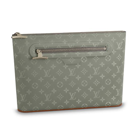 Preload https://item4.tradesy.com/images/louis-vuitton-pochette-collection-titanium-nylon-clutch-23660818-0-1.jpg?width=440&height=440