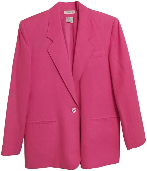 Item - Hot Pink Silk Jacket And Skirt Suit Size 6 (S)
