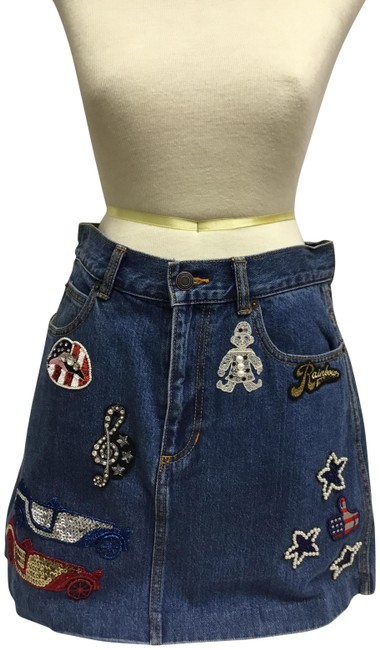 Preload https://item1.tradesy.com/images/marc-jacobs-blue-embroidered-mini-denim-miniskirt-size-8-m-29-30-23660835-0-2.jpg?width=400&height=650