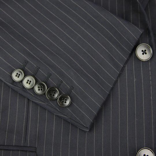 Gucci Blue Cotton Marseille Striped Suit 2 Buttons 1 Vent 54r/Us 44r 234096 4240 Groomsman Gift
