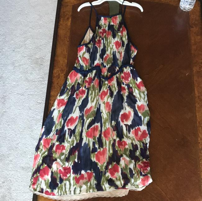 Moulinette Soeurs short dress navy, olive,rose, and red. the belt is olive green on Tradesy
