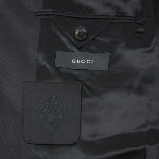 Gucci Black Wool Marseille Button 1 Vent It 52r/Us 42r 270554 Tuxedo
