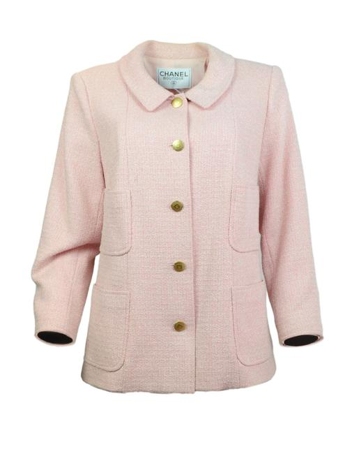 Preload https://item3.tradesy.com/images/chanel-pink-and-white-with-goldtone-cc-buttons-jacket-size-14-l-23660872-0-0.jpg?width=400&height=650