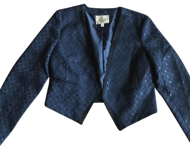 Preload https://item2.tradesy.com/images/frenchi-navy-with-black-piping-for-you-blazer-size-8-m-23660881-0-1.jpg?width=400&height=650