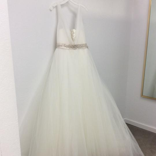 Preload https://img-static.tradesy.com/item/23660901/casablanca-sheer-pleated-tulle-ballgown-modern-wedding-dress-size-10-m-0-0-540-540.jpg