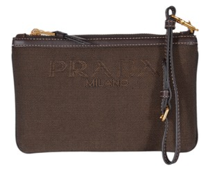 Prada Purse Handbag Wallet Wristlet in Brown