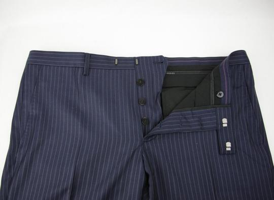 Gucci Blue Striped Wool Suit 2 Button 2 Vents It 54r/Us 44r 353232 4240 Groomsman Gift