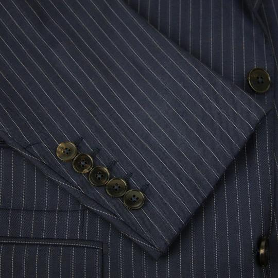 Gucci Blue Striped Wool Suit 2 Button 2 Vents It 58r/Us 48r 353232 4240 Groomsman Gift