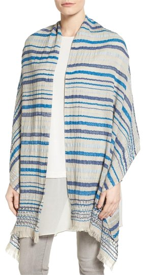 Preload https://item5.tradesy.com/images/eileen-fisher-multicolor-new-striped-organic-cotton-openwork-grey-blue-scarfwrap-23660974-0-1.jpg?width=440&height=440