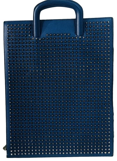 Preload https://item5.tradesy.com/images/christian-louboutin-trictrac-spike-blue-leather-laptop-bag-23660979-0-2.jpg?width=440&height=440