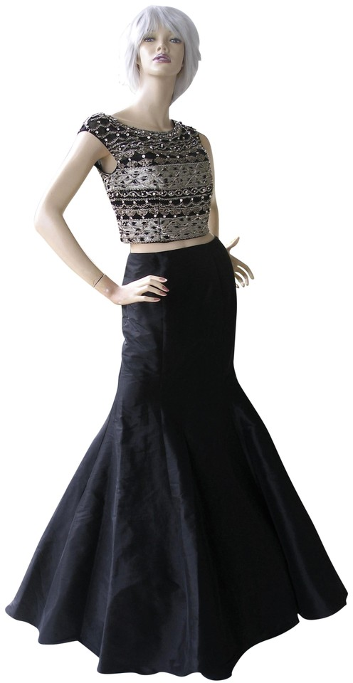 95b4827d854 Jovani Black Jeweled 2 Piece Mermaid Prom Gown 25621 A Long Formal ...