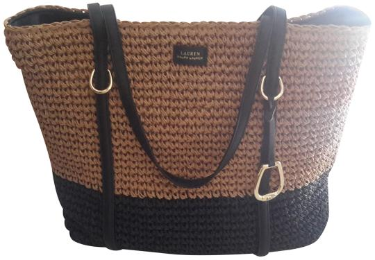 Preload https://img-static.tradesy.com/item/23660989/ralph-lauren-black-label-langdon-straw-tote-naturalblack-woven-material-beach-bag-0-1-540-540.jpg