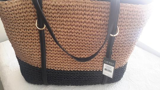 Ralph Lauren Black Label Natural/black Beach Bag