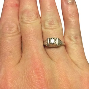 14k White Gold .25 Carat Diamond Ring white gold vintage ring