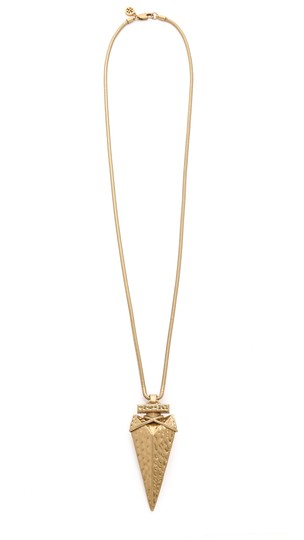 Tory Burch NEW Arrowhead Metal Pendant Necklace