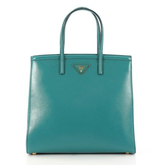 Preload https://item2.tradesy.com/images/prada-slim-convertible-vernice-saffiano-medium-turquoise-leather-tote-23661031-0-0.jpg?width=440&height=440