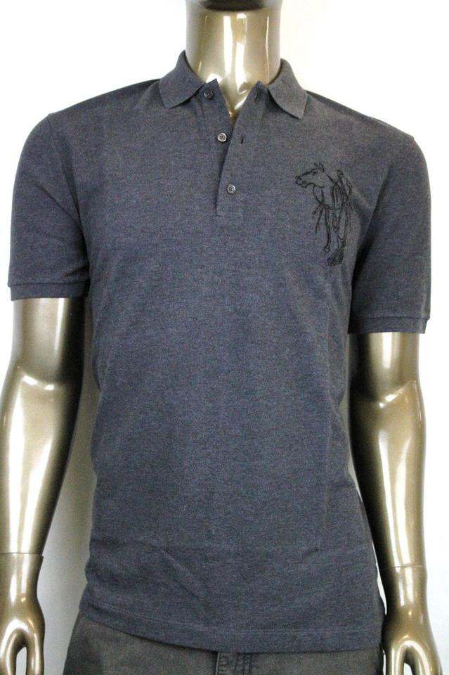 39e3abb0f Gucci Grey New Men's Slim Fit Embroidered Horse Polo Top 2xl 338567 1200  Shirt Image 0 ...