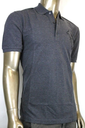 Gucci Grey New Men's Slim Fit Embroidered Horse Polo Top 2xl 338567 1200 Shirt