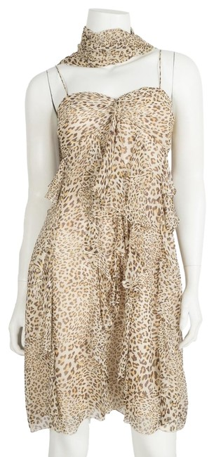 Preload https://item2.tradesy.com/images/pronovias-leopard-ruffle-short-cocktail-dress-size-12-l-23661086-0-1.jpg?width=400&height=650