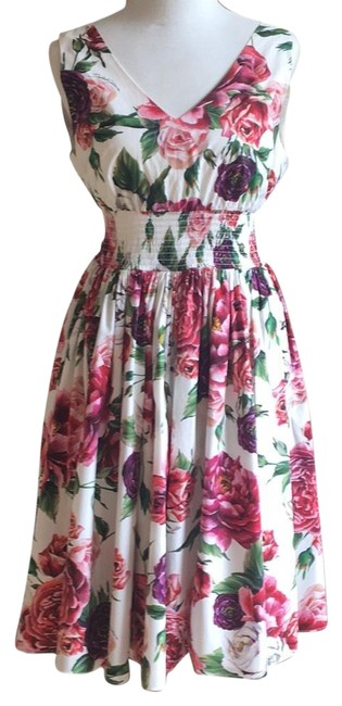 Preload https://item3.tradesy.com/images/dolce-and-gabbana-floral-mid-length-cocktail-dress-size-12-l-23661182-0-1.jpg?width=400&height=650