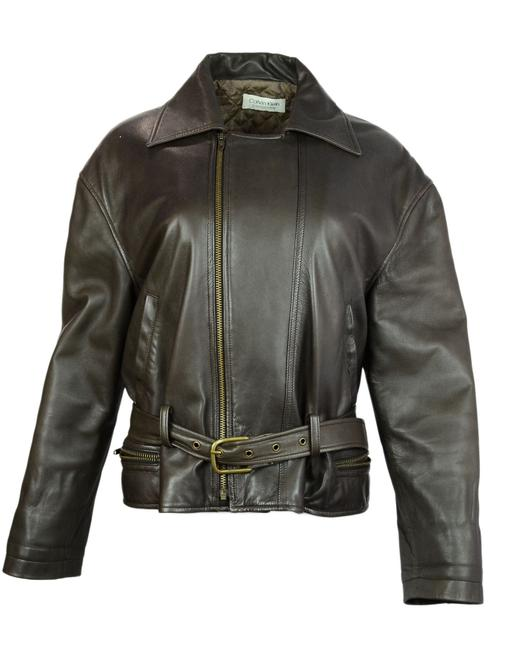 Preload https://item5.tradesy.com/images/calvin-klein-collection-brown-leather-motorcycle-jacket-size-10-m-23661184-0-0.jpg?width=400&height=650