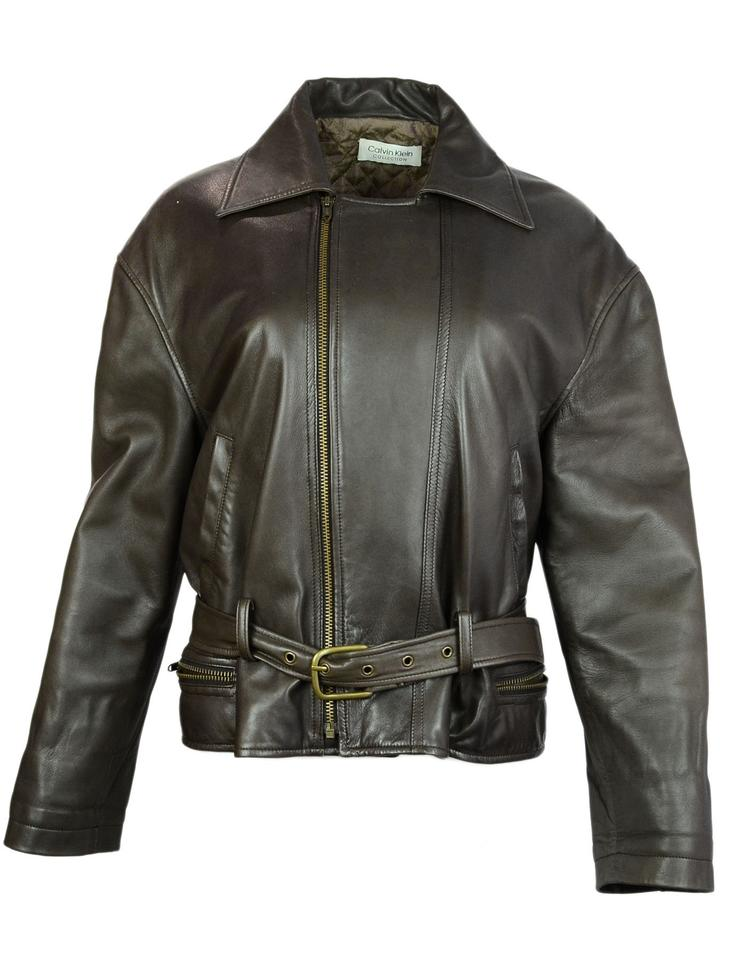ff437b1c669 Calvin Klein Collection Leather Leather Moto Motorcycle Jacket Image 0 ...