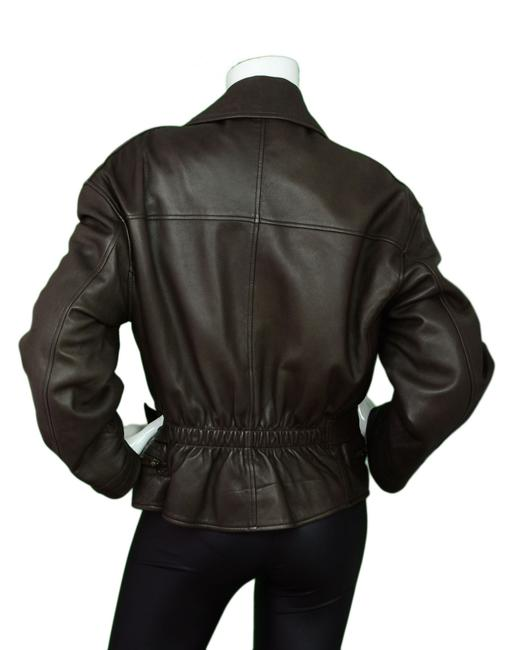 Calvin Klein Collection Leather Leather Moto Motorcycle Jacket
