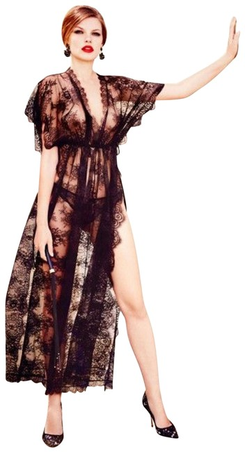 Preload https://item1.tradesy.com/images/agent-provocateur-black-fionna-lace-kaftan-long-night-out-dress-size-6-s-23661205-0-1.jpg?width=400&height=650