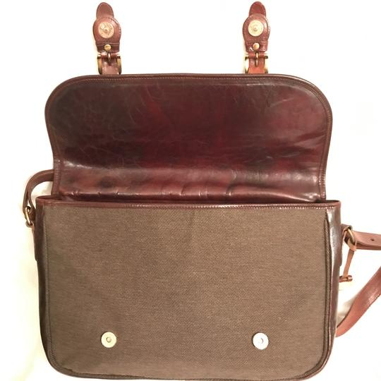 Brahmin Briefcase Cross Body Shoulder Laptop Distressed Brown Messenger Bag