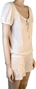 Juicy Couture Drawstring Neck Shorts Stretchy Scoop Neck Cotton Dress