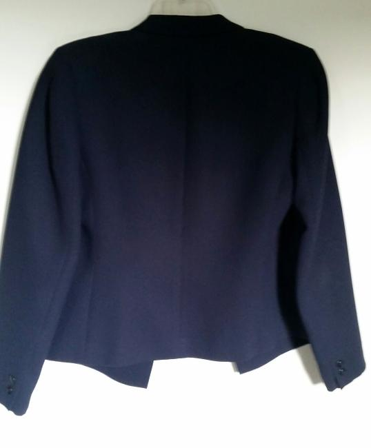 Petite Sophisticate Buttons Navy Blazer