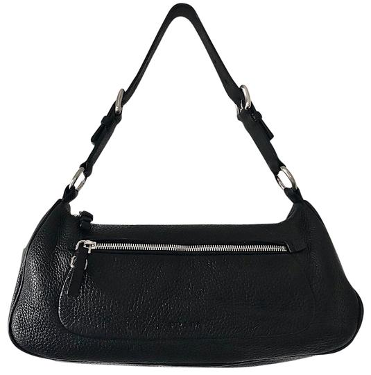 Preload https://item4.tradesy.com/images/prada-front-zip-silver-tone-hardware-handbag-black-pebbled-calfskin-leather-shoulder-bag-23661288-0-1.jpg?width=440&height=440