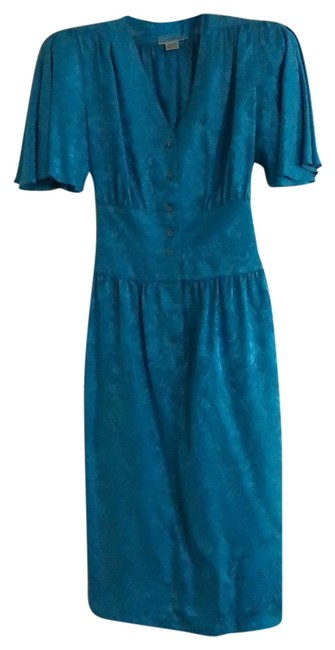 Preload https://item2.tradesy.com/images/nordstrom-blue-silk-mid-length-cocktail-dress-size-4-s-23661321-0-1.jpg?width=400&height=650