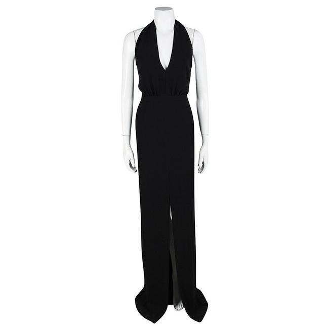 Black Maxi Dress by Boss By Hugo Plunge Halter Maxi