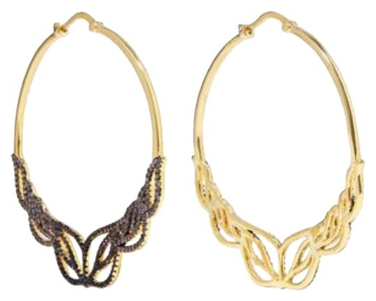 Preload https://img-static.tradesy.com/item/23661339/noir-glowing-hoop-gold-tone-crystal-earrings-0-1-540-540.jpg