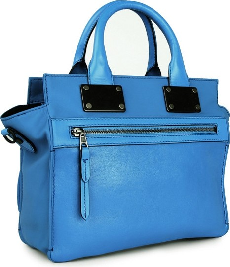 Rag & Bone And Leather Satchel in Blue