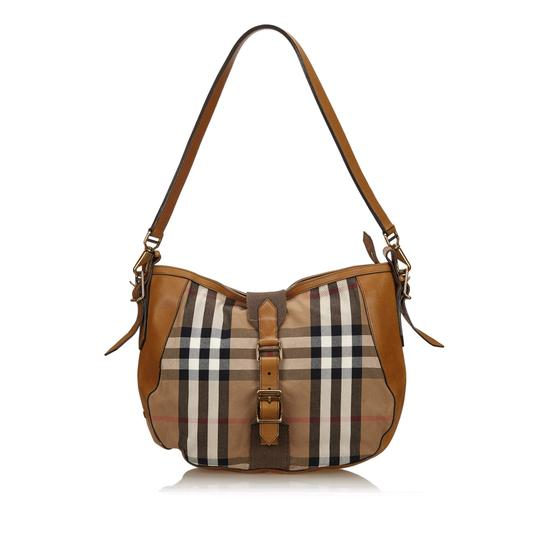 Preload https://item1.tradesy.com/images/burberry-plaid-brown-fabric-x-jacquard-x-leather-x-others-shoulder-bag-23661355-0-0.jpg?width=440&height=440